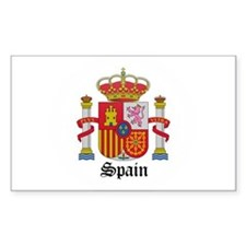 Spaniard Coat of Arms Seal Rectangle Decal