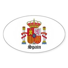 Spaniard Coat of Arms Seal Oval Decal