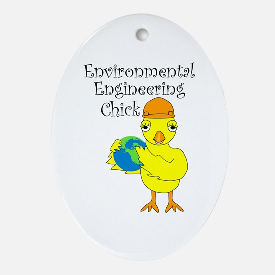 Environmental Engineering Chick Oval Ornament