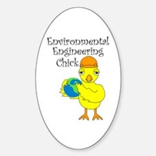 Environmental Engineering Chick Oval Decal