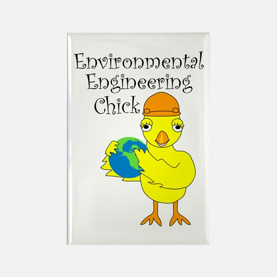 Environmental Engineering Chick Rectangle Magnet