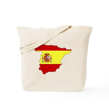Spain Flag Map Tote Bag