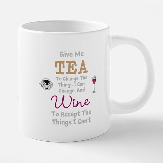 Tea and Wine 20 oz Ceramic Mega Mug