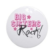 Big Sisters Rock Ornament (Round)