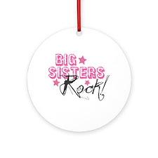 Big Sisters Rock Ornament (Round)
