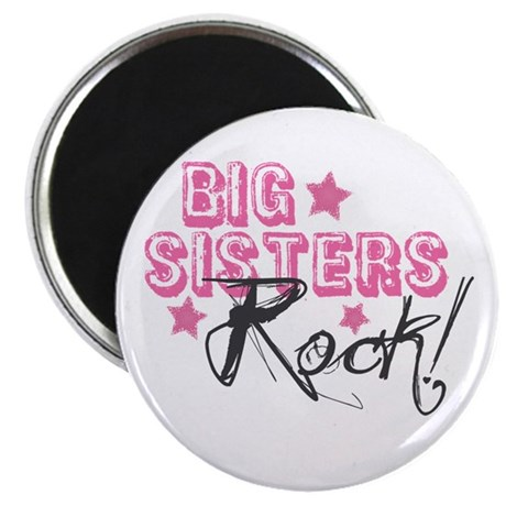 "Big Sisters Rock 2.25"" Magnet (100 pack)"