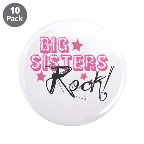 "Big Sisters Rock 3.5"" Button (10 pack)"