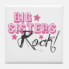 Big Sisters Rock Tile Coaster