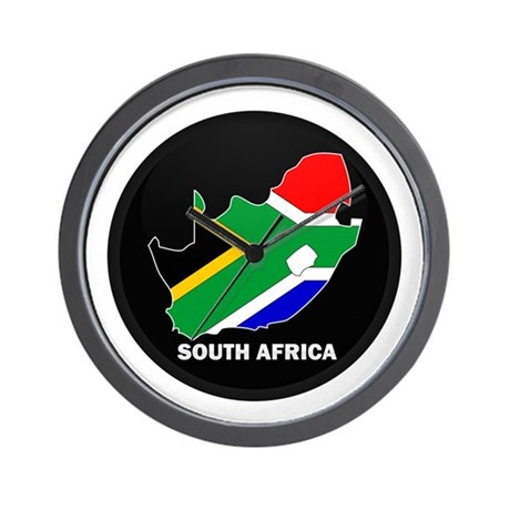 Flag map of south africa wall clock by nationalstore for Modern wall clocks south africa