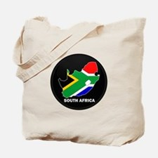 Flag Map of SOUTH AFRICA Tote Bag
