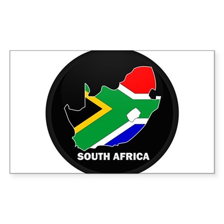 Flag Map of SOUTH AFRICA Rectangle Sticker