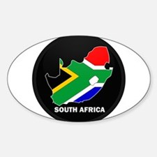 Flag Map of SOUTH AFRICA Oval Decal