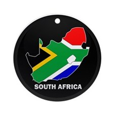 Flag Map of SOUTH AFRICA Ornament (Round)