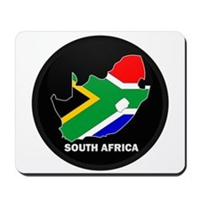 Flag Map of SOUTH AFRICA Mousepad