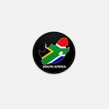 Flag Map of SOUTH AFRICA Mini Button (10 pack)