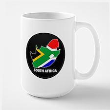 Flag Map of SOUTH AFRICA Mug
