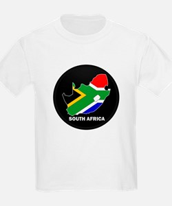 Flag Map of SOUTH AFRICA T-Shirt