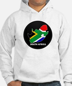 Flag Map of SOUTH AFRICA Hoodie