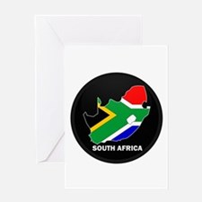 Flag Map of SOUTH AFRICA Greeting Card