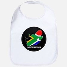 Flag Map of SOUTH AFRICA Bib