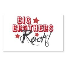 Big Brothers Rock Rectangle Decal
