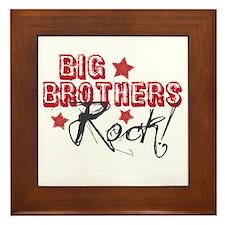 Big Brothers Rock Framed Tile