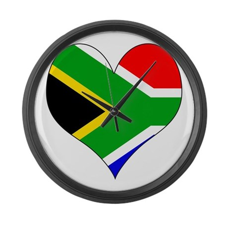 I Love SOUTH AFRICA Large Wall Clock