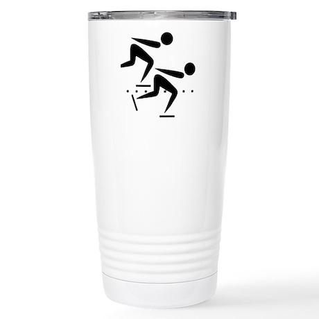 Speedskating Stainless Steel Travel Mug