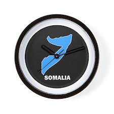Flag Map of somalia Wall Clock