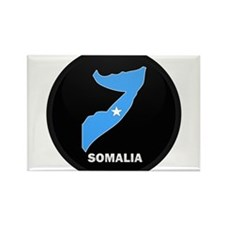 Flag Map of somalia Rectangle Magnet