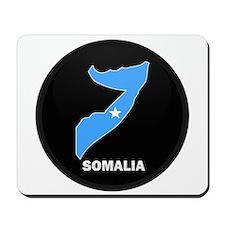 Flag Map of somalia Mousepad