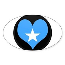 I love somalia Flag Oval Decal