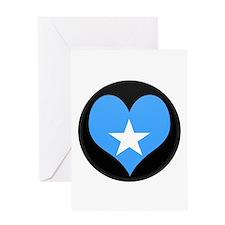 I love somalia Flag Greeting Card