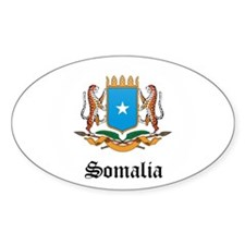 Somali Coat of Arms Seal Oval Decal