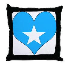 I Love somalia Throw Pillow