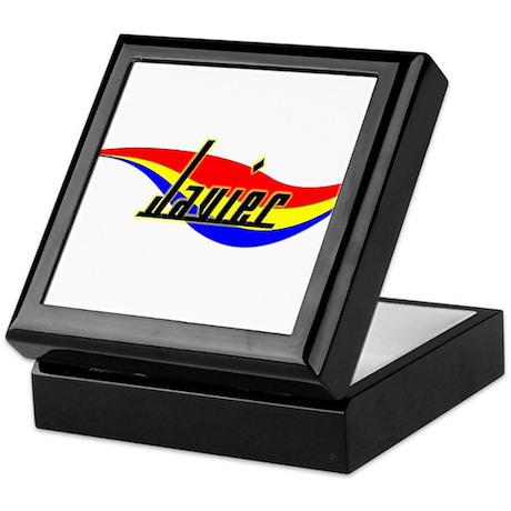 Javier's Power Swirl Name Keepsake Box