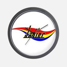 Javier's Power Swirl Name Wall Clock