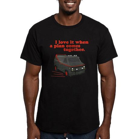 A-Team van & quote Men's Fitted T-Shirt (dark)