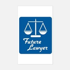 Future Lawyer Rectangle Decal