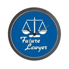 Future Lawyer Wall Clock