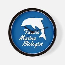 Future Marine Biologist Wall Clock