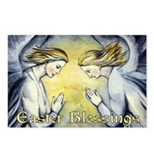 Two Angels-Easter Blessings Postcards (Package of