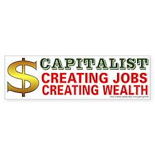 Capitalist Bumper Car Sticker