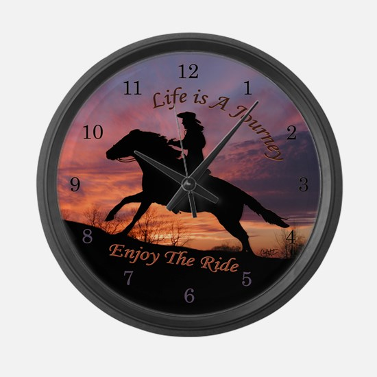 Life's Journey - Large Wall Clock