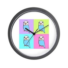 Budgie Pop Art Wall Clock