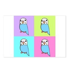Budgie Pop Art Postcards (Package of 8)
