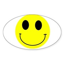 Happy Smiley Oval Decal