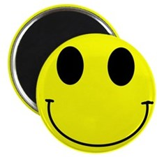 "Happy Smiley 2.25"" Magnet (100 pack)"