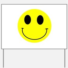 Happy Smiley Yard Sign