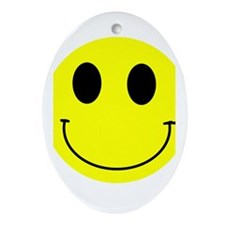 Happy Smiley Oval Ornament